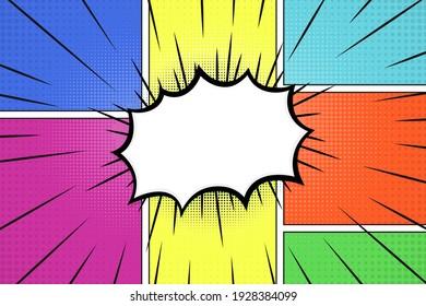 Comics background. Pop art or retro comics style effect. Vector illustration.