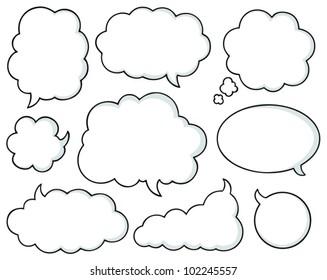 Comics bubbles collection 1 - vector illustration.