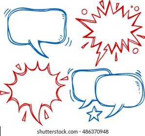 comics bubbles speech