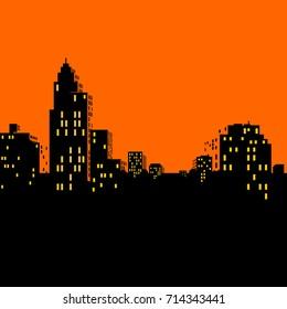 Comics city Skyline vector