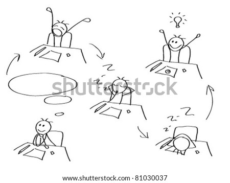 Comics Creative Man Stock Vector Royalty Free 81030037