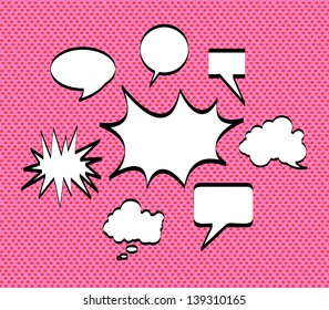 comics icons over pink background vector illustration