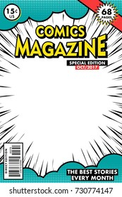 Comics magazine. Vector art