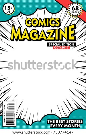 Comics magazine Vector art