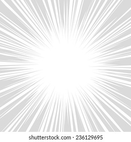 Comics Radial Speed Lines graphic effects. Vector illustration