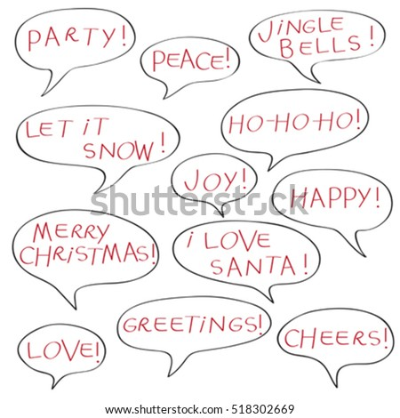 Comics speech bubbles christmas greetings text stock vector royalty comics speech bubbles with christmas greetings text elements isolated isolated on white m4hsunfo