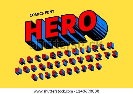 Comics style font alphabet