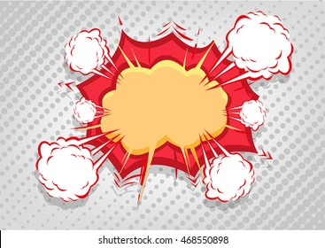 Comics Symbol of Sound and Explosion for varied loud audio subjects. Editable Clip Art.