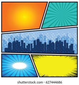 Comics Template. Vector Comic Book Illustration.