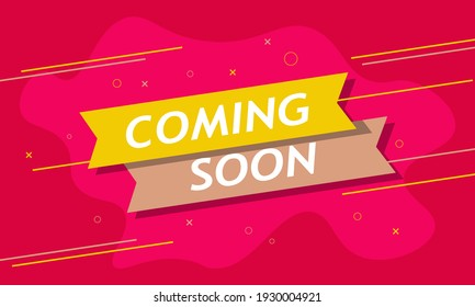 Coming soon banner background with simple color.