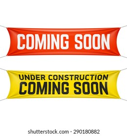 Coming soon banner vector illustration