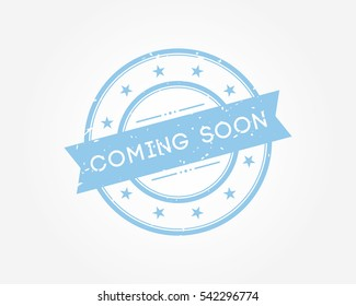 coming soon. blue stamp sign vector