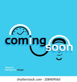Coming soon, business concept, mystery abstract background design