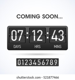 Coming soon countdown website timer template