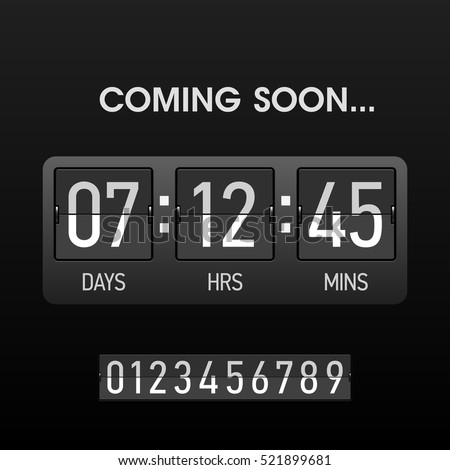 coming soon countdown website timer template stock vector royalty