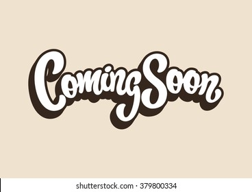 Coming Soon lettering text