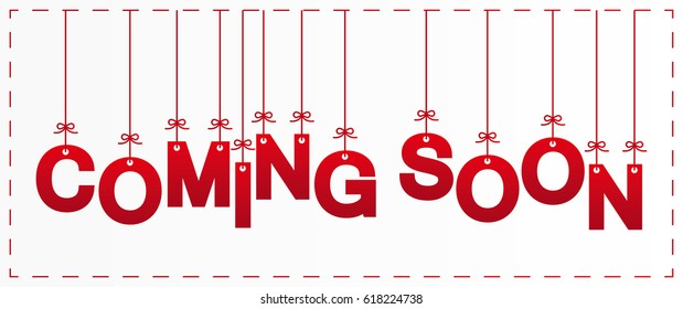 coming soon letters design