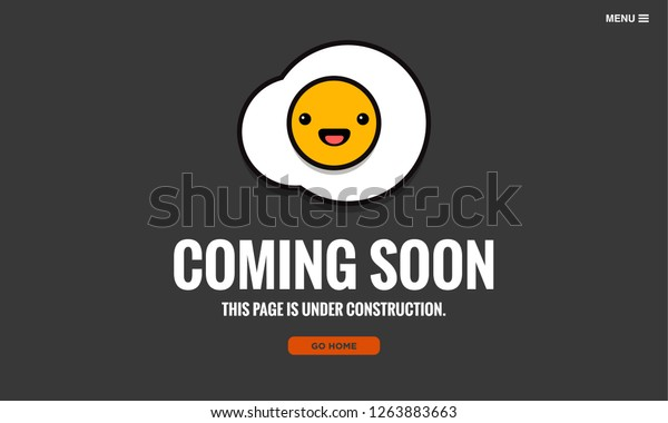 Awesome Coming Soon Page Design Fried Egg Stock Vector Royalty Free Download Free Architecture Designs Scobabritishbridgeorg