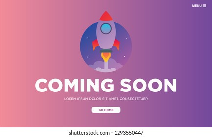 Coming Soon Page Design for Website