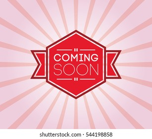 coming soon poster. promotion banner, badge, label, ribbon. vector illustration