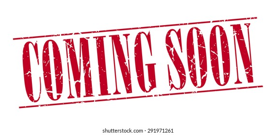 coming soon red grunge vintage stamp isolated on white background. coming soon stamp. coming soon. coming soon sign.