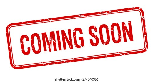 coming soon red square grungy vintage isolated stamp. coming soon stamp. coming soon. coming soon sign.