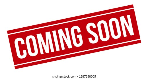 Coming Soon rubber stamp. Red Coming Soon stamp seal – Vector