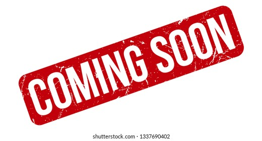 Coming Soon rubber stamp. Red Coming Soon rubber grunge stamp vector illustration - Vector