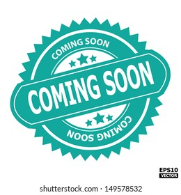 Coming soon rubber stamp sign.-eps10 vector