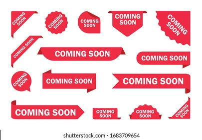 Coming soon. A set of banners coming soon. Vector
