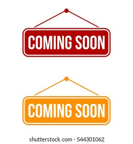 Coming Soon Signage Vector Template Illustration Design. Vector EPS 10.