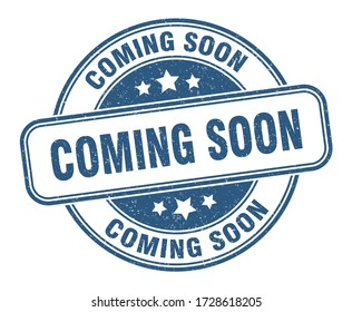 coming soon stamp. coming soon round grunge sign. label