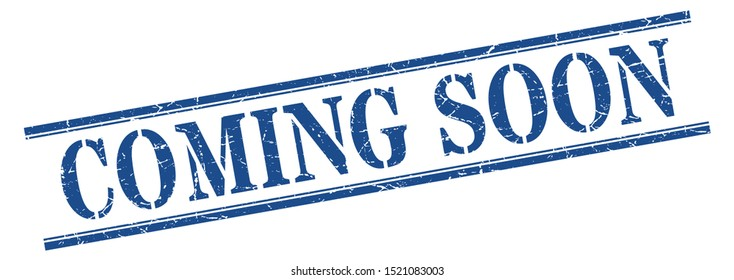 coming soon stamp. coming soon stencil font striped sign