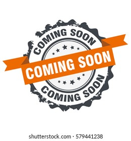 Coming soon stamp,sign,seal logo