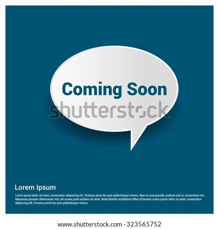 Coming Soon Text Realistic Speech Bubble Stock Vector (Royalty Free
