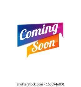 Coming soon. Vector illustrations on white background.