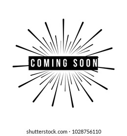 Coming Soon Vector Template Design
