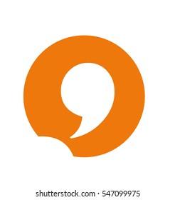 Comma and Communication Logo Emblem Icon Monogram