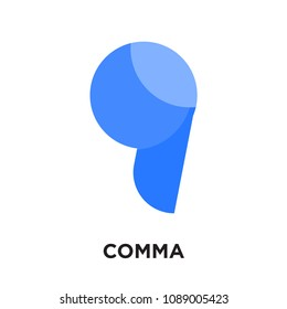 comma logo isolated on white background for your web and mobile app design , colorful vector icon, brand sign & symbol for your business, comma icon concept