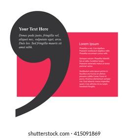 Comma Text Box (Vector Design Template)