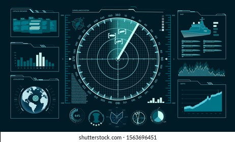 Command center, user interface, game, radar, sonar