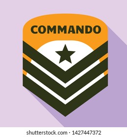Commando air star logo. Flat illustration of commando air star vector logo for web design