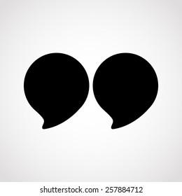 Commas.vector illustration.