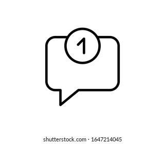 Comment flat icon. Single high quality outline symbol for web design or mobile app.  Comment thin line signs for design logo, visit card, etc. Outline pictogram EPS10
