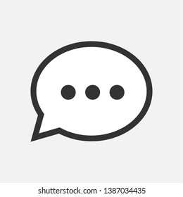Comment Icon. Conversation or Chat Illustration As A Simple Vector Sign & Trendy Symbol for Design and Websites, Presentation or Mobile Application.