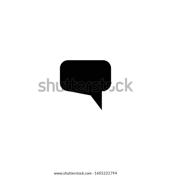 comment icon message frame symbol logo stock vector royalty free 1605221794 shutterstock
