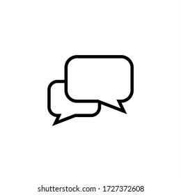 Comment icon vector. Conversation, Speech bubble icon symbol