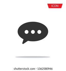 comment icon vector isolated on white background.