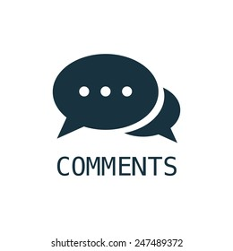 comments icon on white background