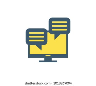 Comments icon. Vector illustration in flat minimalist style.